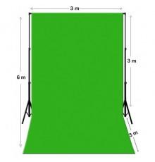 Location Fond vert, bleu, Kit Chromakey Vert 3M X 6M + Support Marseille