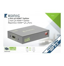 Location Splitter HDMI Professionnel 4 ports Konig