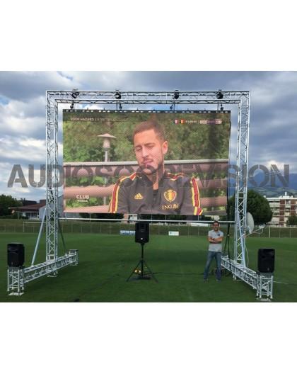 Location écran led plein jour extérieur mur led écran géant outdoor grand écran cinéma plein air Aix en Provence Toulouse Montpe