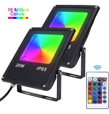 Projecteur LED RGB 20W IP65 étanche
