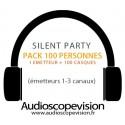 Location Pack Silent Party Disco 100 personnes, émetteur 3 canaux Cannes