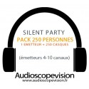 Location Pack Silent Party Disco 250 personnes, émetteur 10 canaux