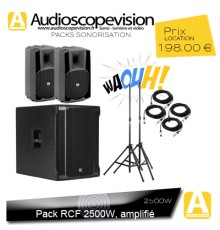 Location, Pack RCF 2500W, Marseille aix en Provence