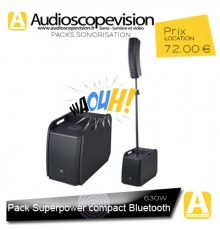 Location Pack sono 630W RMS colonne design type line array Bluetooth Marseille, location sono aix Provence