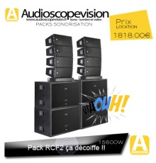 Location Pack son 15600W Rms  31200W Music Aix en Provence