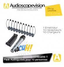 Location Audioguide Pack 10 pers pour visite guidée