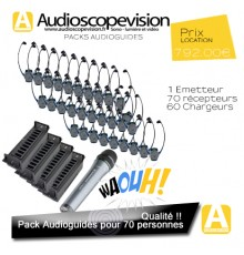 Audioguide, Pack 70 pers, visite guidée, Montpellier, Toulouse