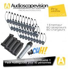 Audiophones,  Pack 80 pers, visite guidée, Lyon, Nantes, Paris