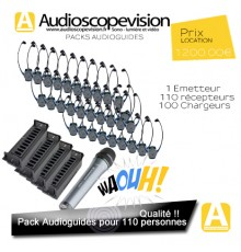 Location, Audioguide, Pack 110 pers, visite guidée, audiophones, Cannes